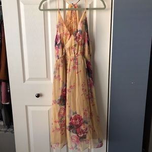 Anthropologie Meadow Rue Floral Dress Halter Style